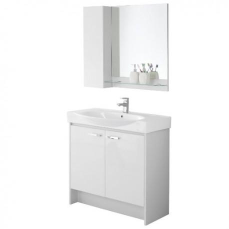 Specchio Bagno Mobile.Composizione Mobile Bagno Con Consolle Specchio Pensile Mensola